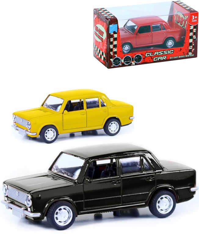Auto retro model Lada 12 cm kovové zpětný nátah - 3 barvy