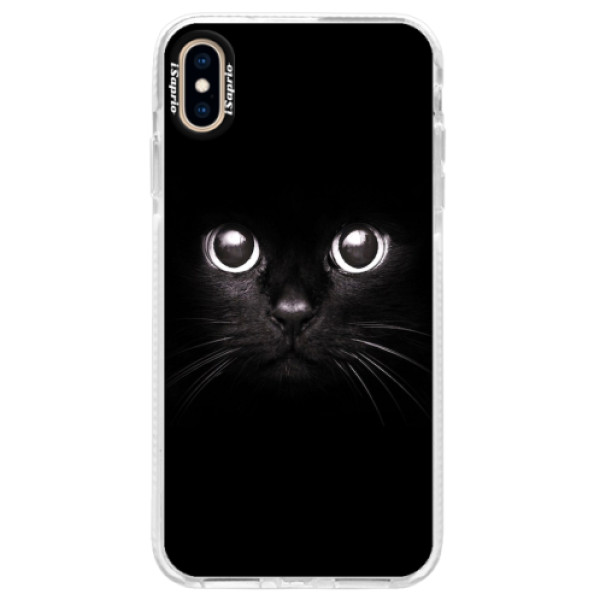 Silikonové pouzdro Bumper iSaprio - Black Cat - iPhone XS Max