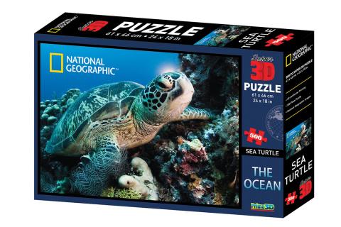 Puzzle Želva 500 dílků 3D