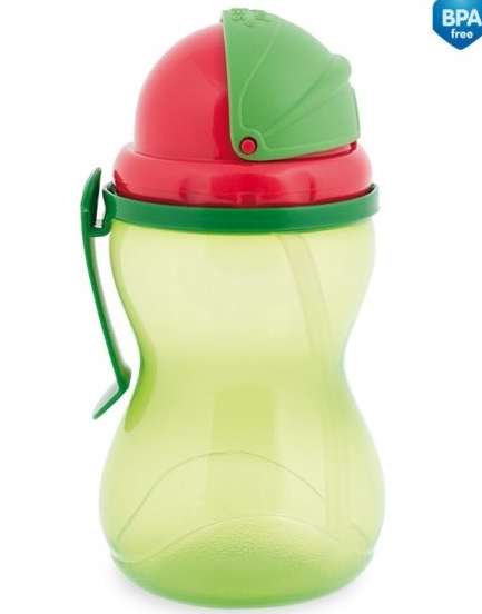 Sportovní láhev se slámkou 370 ml - zelená