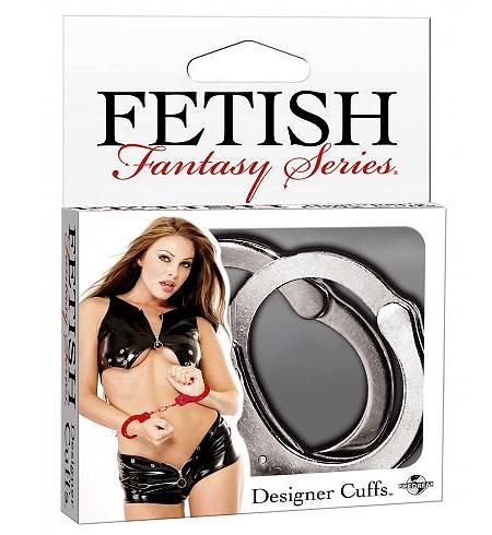 Kovová pouta FF Designer Cuffs-Silve