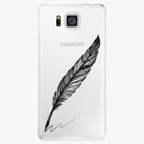Plastový kryt iSaprio - Writing By Feather - black - Samsung Galaxy Alpha
