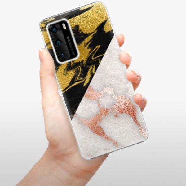 Plastové pouzdro iSaprio - Shining Marble - Huawei P40