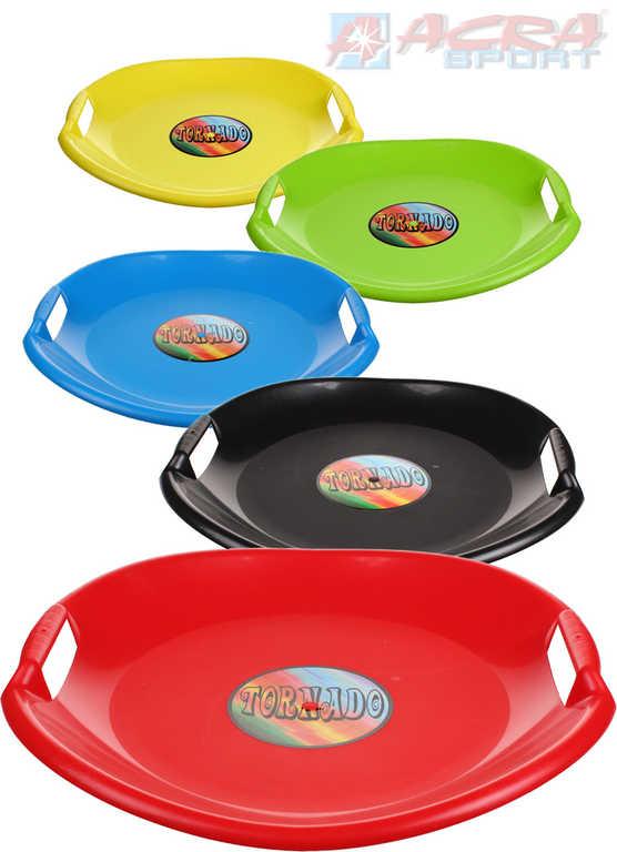 ACRA Sáňkovací talíř TORNÁDO 54cm s držadly 4 barvy plast
