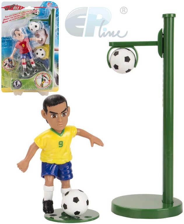 EP Line Shooters set figurka fotbalista + držák se 2 míči plast 6 druhů