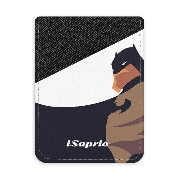Pouzdro na kreditní karty iSaprio - Bat Comics - tmavá nalepovací kapsa