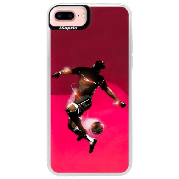 Neonové pouzdro Pink iSaprio - Fotball 01 - iPhone 7 Plus