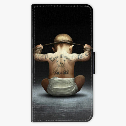 Flipové pouzdro iSaprio - Crazy Baby - Huawei Honor 9 Lite