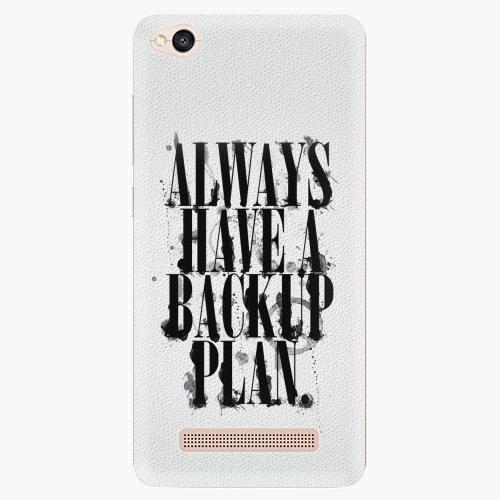 Plastový kryt iSaprio - Backup Plan - Xiaomi Redmi 4A