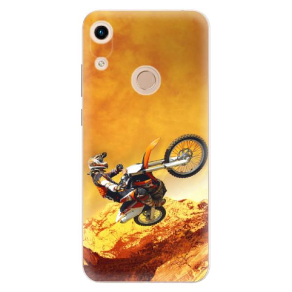 Odolné silikonové pouzdro iSaprio - Motocross - Huawei Honor 8A
