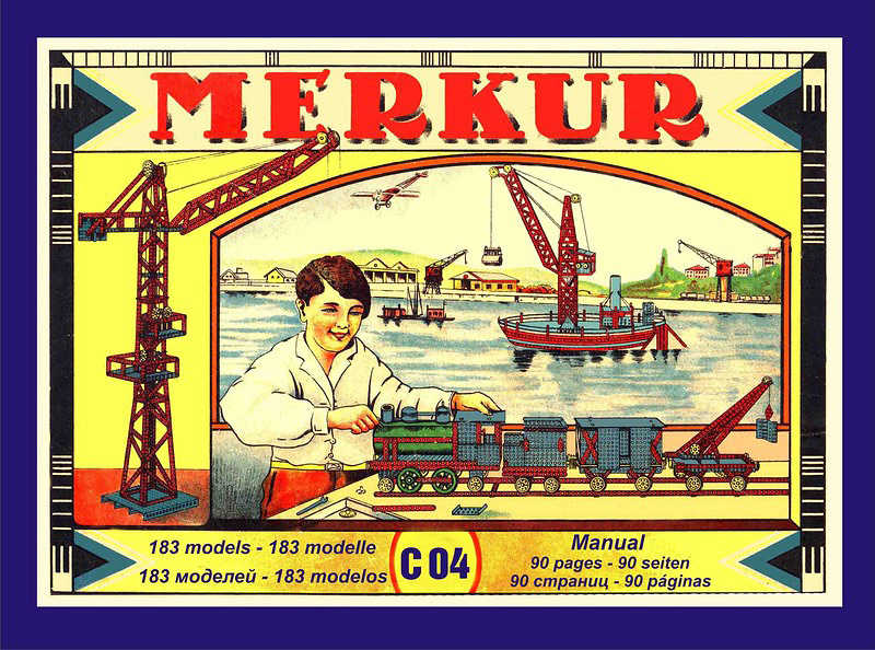 MERKUR Classic C04 183 modelů 213 dílků retro KOVOVÁ STAVEBNICE