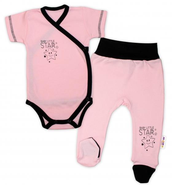 baby-nellys-2-dilna-sada-body-kr-rukav-polodupacky-ruzova-baby-little-star-vel-68-68-4-6m