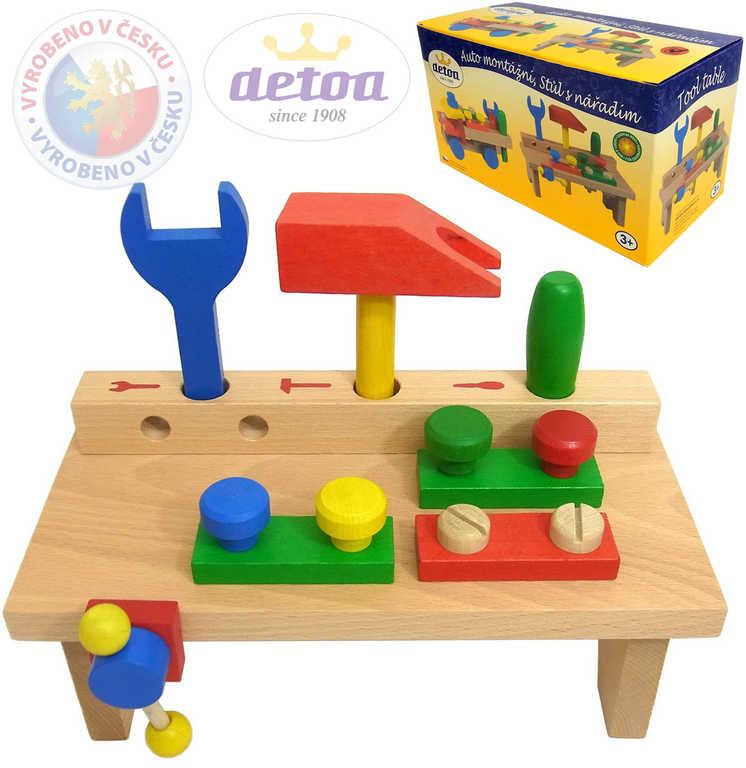 DETOA Dětský pracovní stolek set s nářadím *DŘEVĚNÉ HRAČKY*