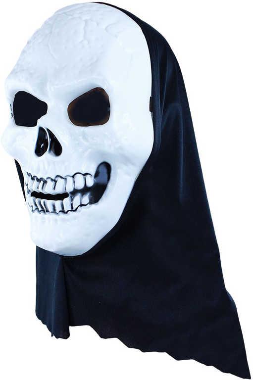 KARNEVAL Maska na obličej lebka Duch dospělá KARNEVALOVÝ DOPLNĚK
