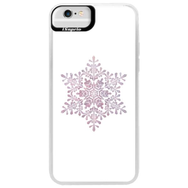 Neonové pouzdro Blue iSaprio - Snow Flake - iPhone 6 Plus/6S Plus