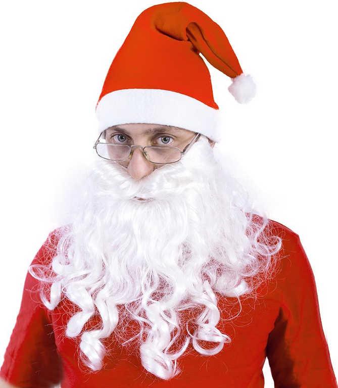 KARNEVAL Vousy Santa pro dospělé KARNEVALOVÝ DOPLNĚK