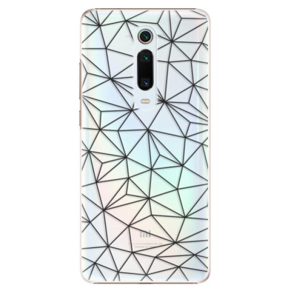 Plastové pouzdro iSaprio - Abstract Triangles 03 - black - Xiaomi Mi 9T Pro