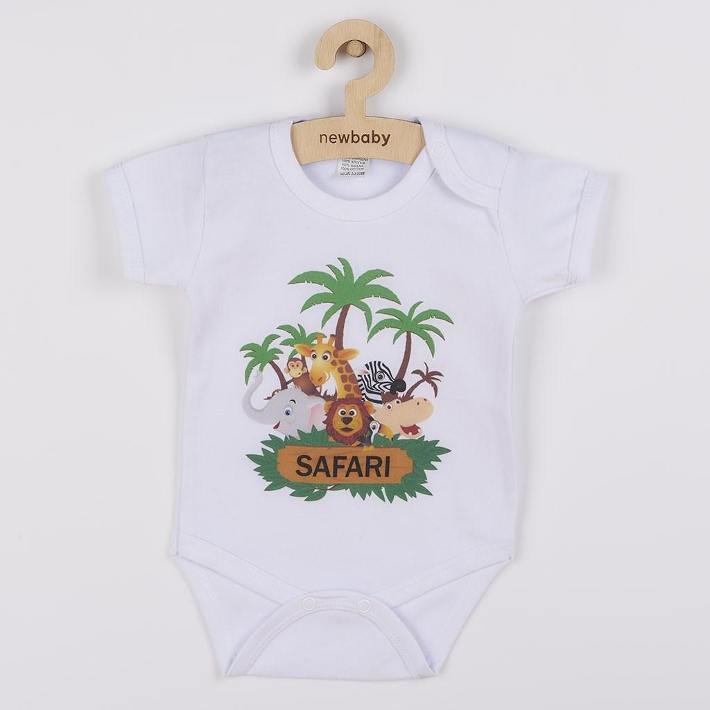 Body s potiskem New Baby SAFARI - dle