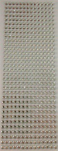 Samolepící kamínky - Stříbrné samolepící kamínky