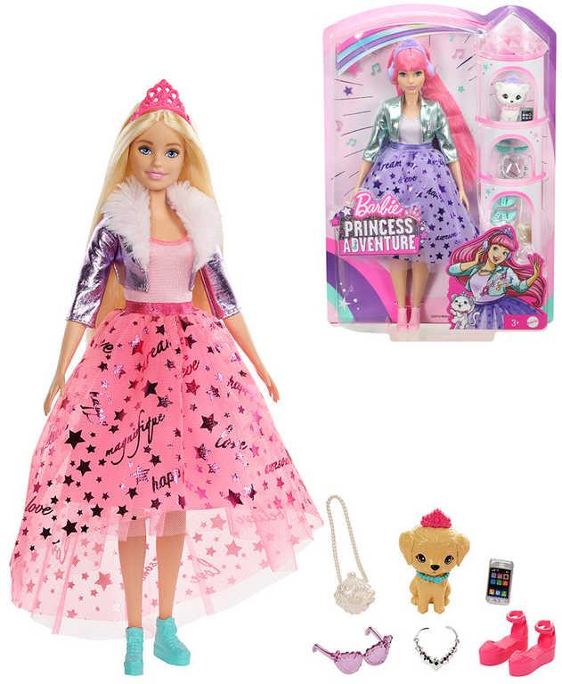 MATTEL BRB Barbie Princess Adventure set panenka sněhová princezna s doplňky