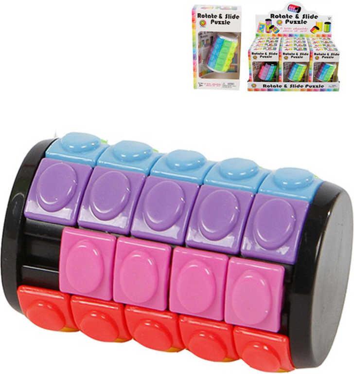 Hlavolam váleček 6,5cm plast 2 barvy v krabičce