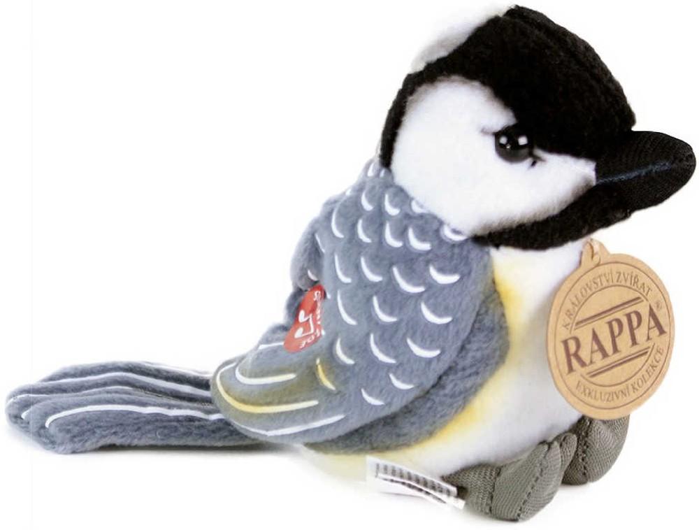 PLYŠ Sýkora uhelníček 11cm ptáček na baterie Zvuk PLYŠOVÉ HRAČKY