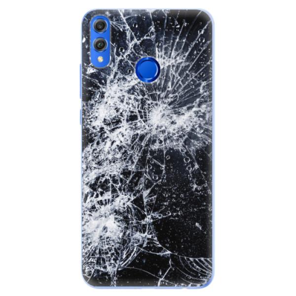Silikonové pouzdro iSaprio - Cracked - Huawei Honor 8X