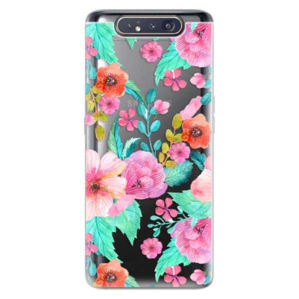 Odolné silikonové pouzdro iSaprio - Flower Pattern 01 - Samsung Galaxy A80