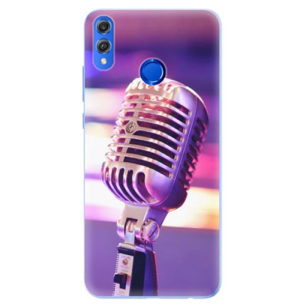 Silikonové pouzdro iSaprio - Vintage Microphone - Huawei Honor 8X