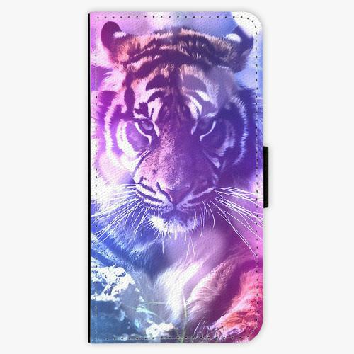 Flipové pouzdro iSaprio - Purple Tiger - Sony Xperia X Compact