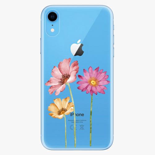 Silikonové pouzdro iSaprio - Three Flowers - iPhone XR