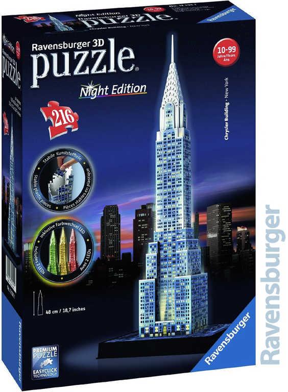 RAVENSBURGER Puzzle 3D Chrysler building Noční edice 216 dílků