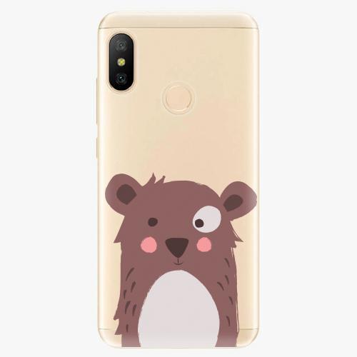 Silikonové pouzdro iSaprio - Brown Bear - Xiaomi Mi A2 Lite