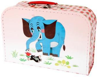 KAZETO Kufr KRTEK (Krteček) a slon střední KUFŘÍK 30 cm