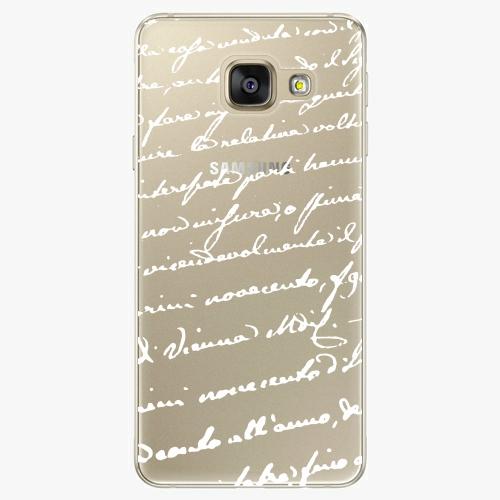 Plastový kryt iSaprio - Handwiting 01 - white - Samsung Galaxy A5 2016