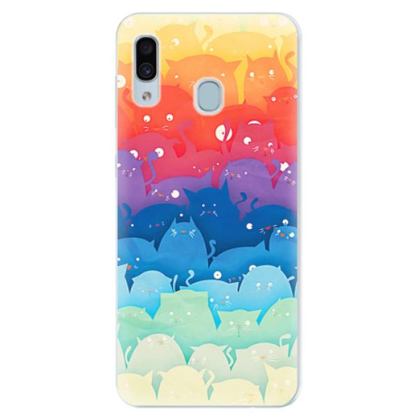 Silikonové pouzdro iSaprio - Cats World - Samsung Galaxy A30