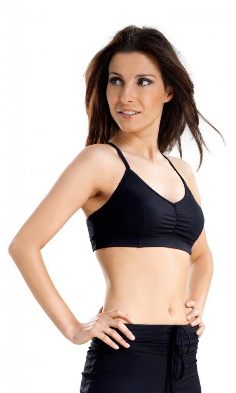 Fitness top Amera - Černá/L
