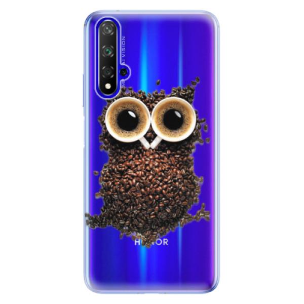 Odolné silikonové pouzdro iSaprio - Owl And Coffee - Huawei Honor 20