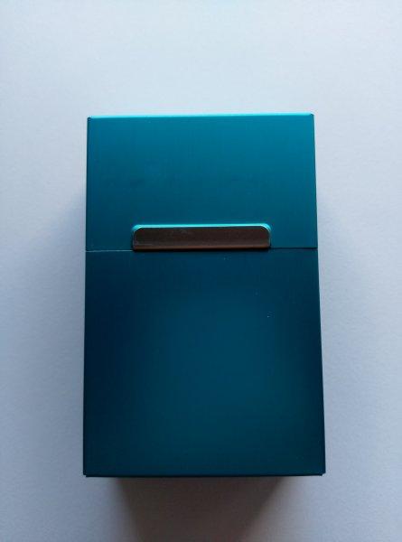 Plechová krabička na cigarety - Modrá