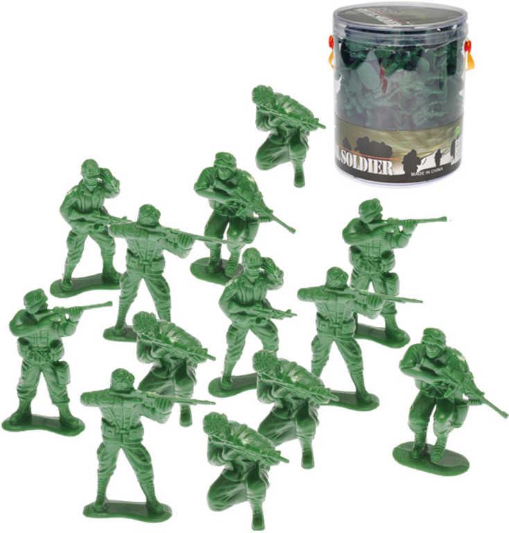 Vojáci army set 100ks zelené plastové figurky vojenské 5cm v tubě