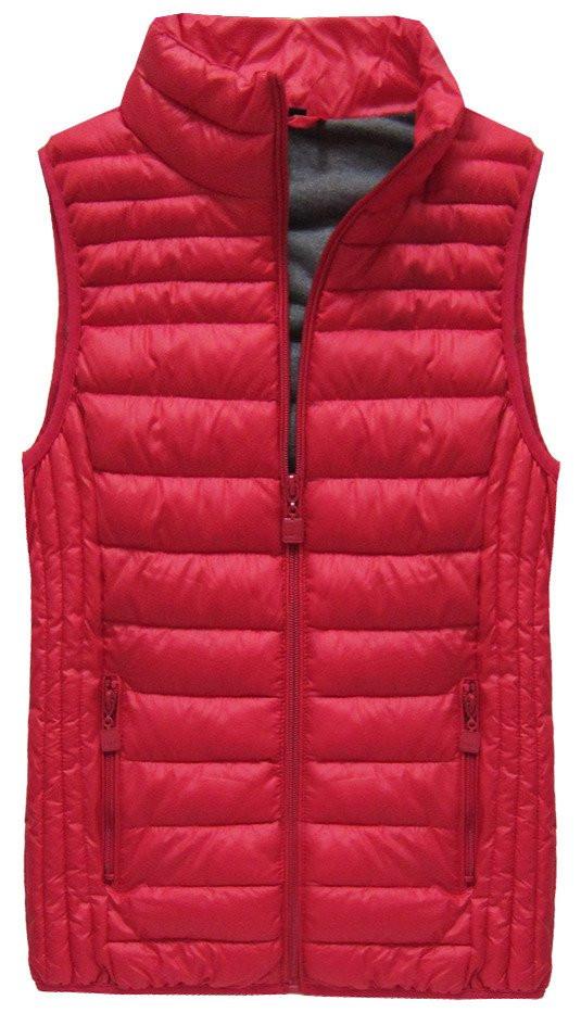 Červená prošívaná vesta (B2608-30)