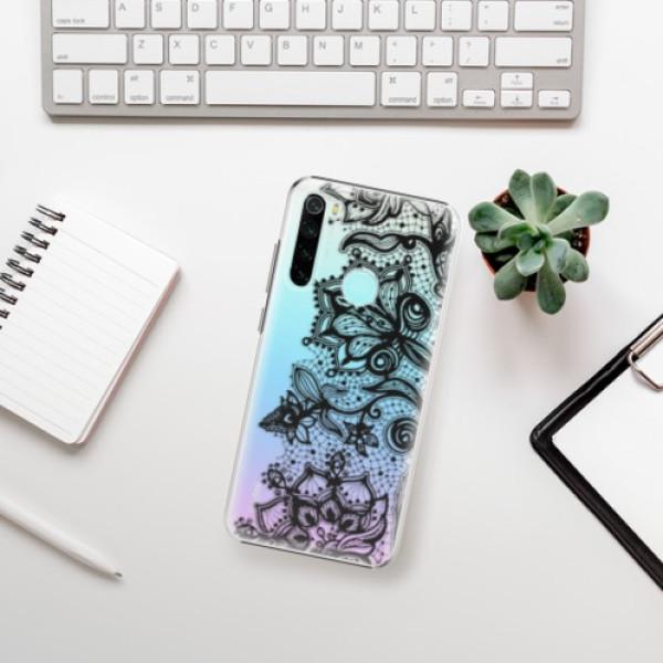 Plastové pouzdro iSaprio - Black Lace - Xiaomi Redmi Note 8