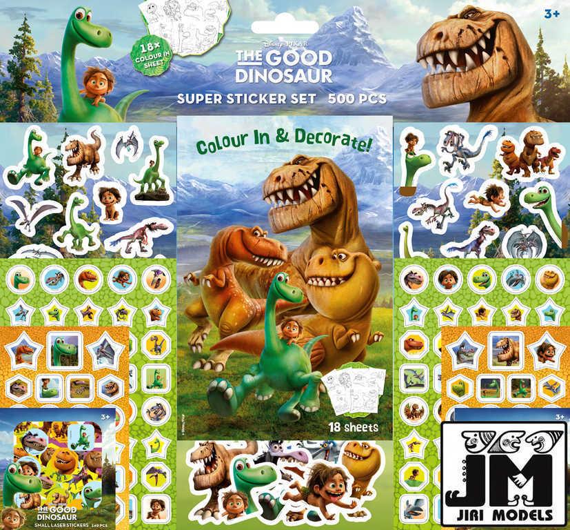JIRI MODELS Samolepkový set 500ks Hodný Dinosaurus