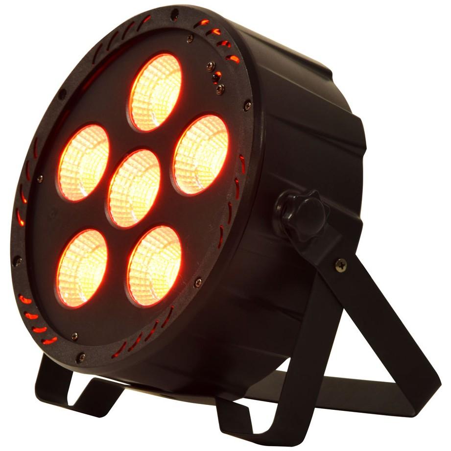 QTX PAR-180+UV Výkonný PAR reflektor, 6x RGB+UV COB, DMX