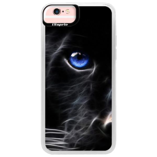 Neonové pouzdro Pink iSaprio - Black Puma - iPhone 6/6S