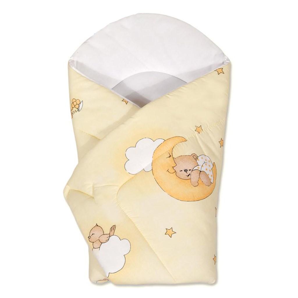 Dětská zavinovačka New Baby - s medvídkem - žlutá