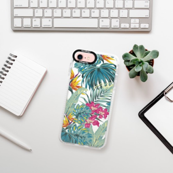 Silikonové pouzdro Bumper iSaprio - Tropical White 03 - iPhone 7