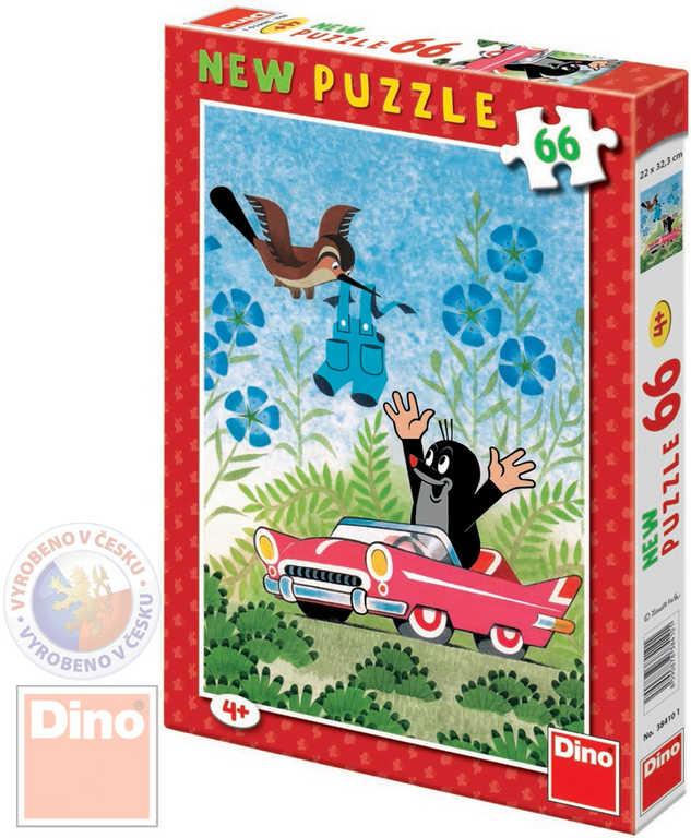DINO Puzzle Krtek a autíčko (Krteček) 22x32cm set 66 dílků v krabici
