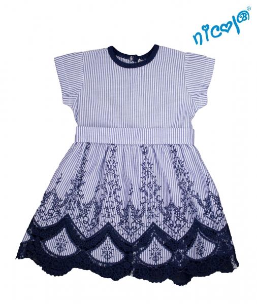 Dětské šaty Nicol, Sailor - granátové/proužky, vel.