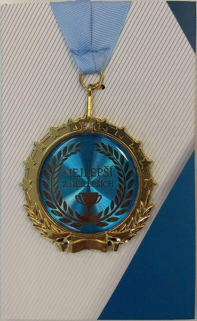 ALBI Přání s medailí - Jsi nejlepší